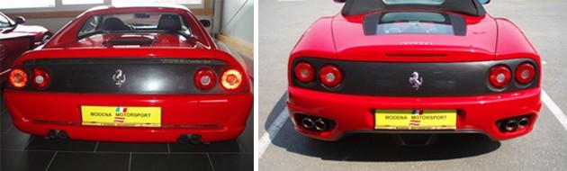 Modena Motorsport Ferrari Heckblenden