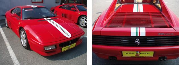 Modena Motorsport Ferrari Zierstreifen Tricolore